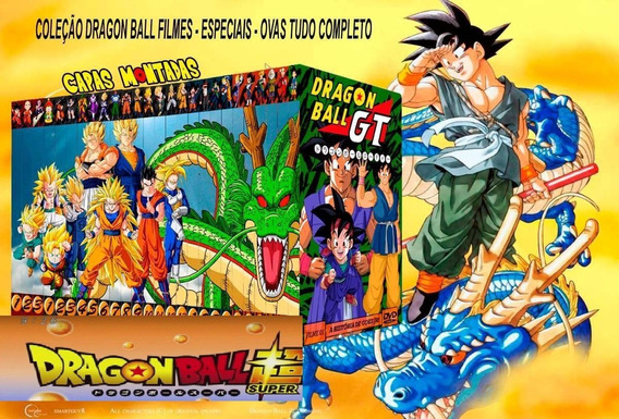 Dvd Dragon Ball - Saga Clássica + Z + Gt + Kai +super+filmes