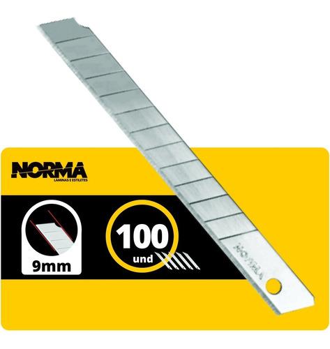 Lâmina Para Estilete Estreita 9mm Norma One Way C/100
