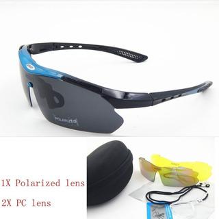 Óculos Sport Ciclismo Polarizada 3 Lentes Proteção Uv