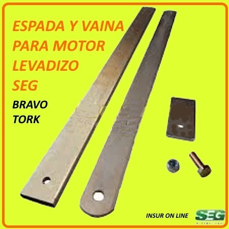 Brazo Accionador Vaina Espada Motor Levadizo Seg Bravo Tork