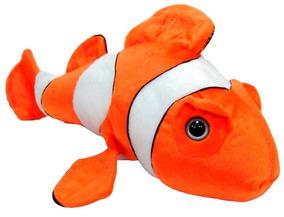Peixe Palhaço Bicho Pelucia 34 Cm Fundo Do Mar