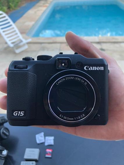 Câmera Digital Canon Powershot G15 + Caixa Estanque