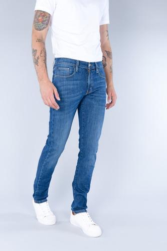 Pantalon Oggi Jeans De Mezclilla Para Hombre Iron Blue Wash Mercado Libre