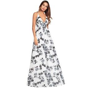 Nuevo Boho Mujeres Maxi Vestido Floral Correa Espaguetis Pro