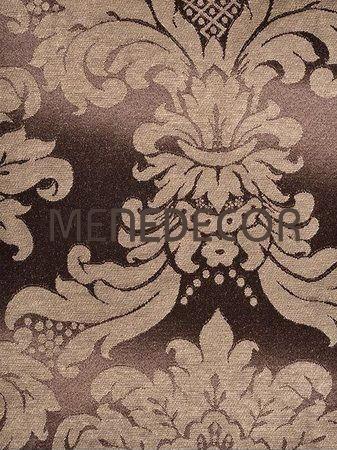 Tecido Jacquard Marrom E Bege Arabesco 4,5m X 2,8m