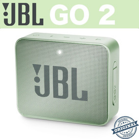 Caixa De Som Bluethooth Jbl Go 2 Verde Mint Original Com Nf