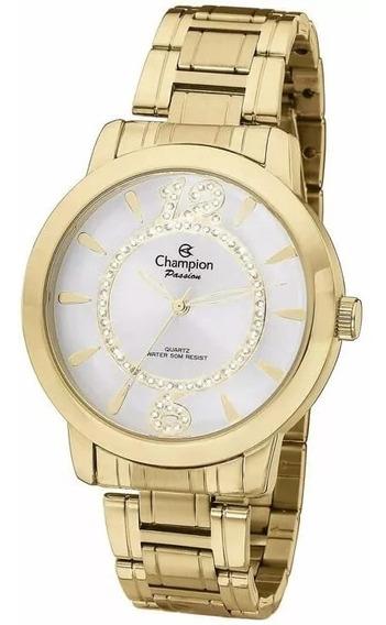 Relógio Champion Feminino Dourado Passion Ch24259h 18 K