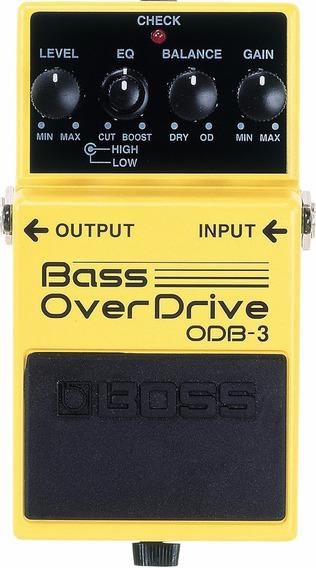 Pedal Boss De Efeito Odb-3 Bass Overdrive P/ Contrabaixo
