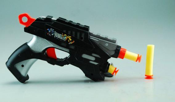 Soft Gun Juguete Lanza Dardos Nerf Niño Transformers Nuevo