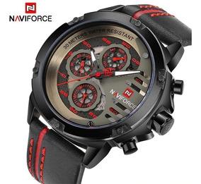 Relógio De Pulso Masculino Naviforce 9110 Vermelho