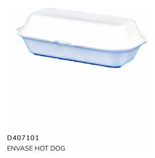 Envase Plumavit Hot Dog Completo X 100 Unid + Envío Incluido