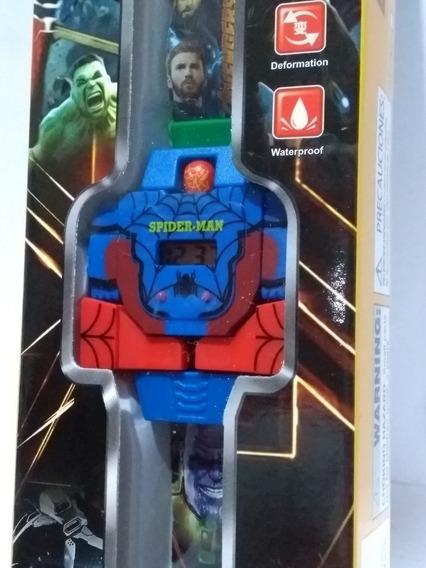Relógio Infantil Digital Homem Aranha Super Heróis Novidade