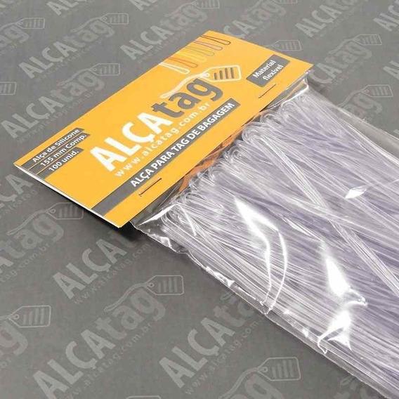 Alça Tag Bagagem Silicone 16 Cm Transparent 100 Und Original
