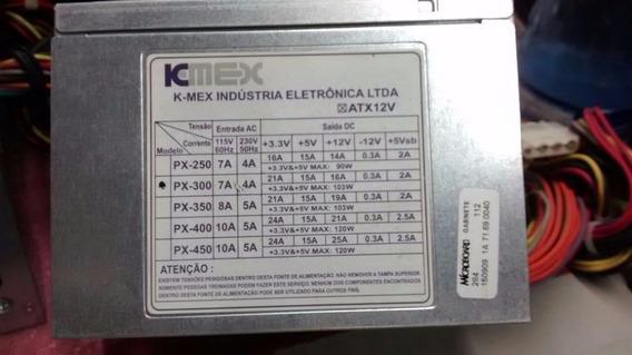 Fonte K-mex Px-300 Com Cabo (5 Meses De Uso)