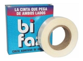 Cinta Adhesiva Pegasola 12mm X 10m Bifaz Pega De Ambos Lados