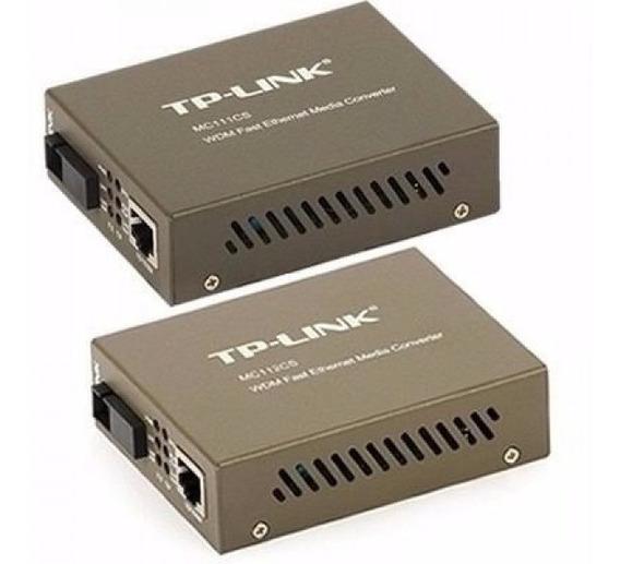 Conversor De Fibra Tp-link Mc111cs E Mc112cs (par)