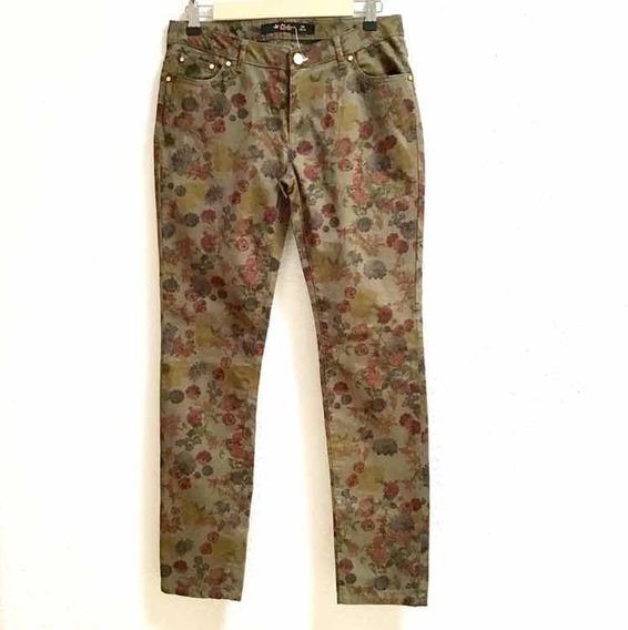 Pantalón Estampado Flores Nuevo T 26-27