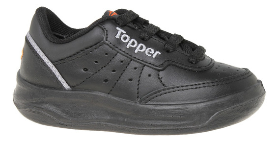 Zapatillas Topper C Tennis X Forcer Kids Niño Ng/gr