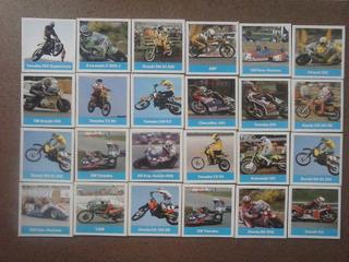 74 Cards Figurinhas De Motocicletas Honda Yamaha Garelli