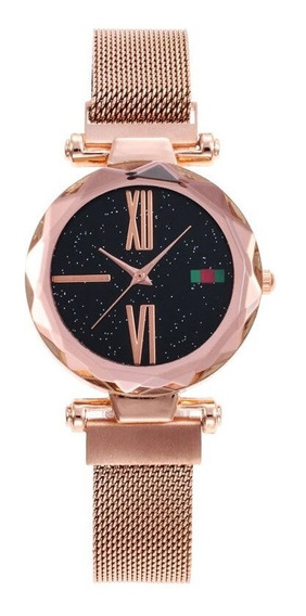 Relógio De Pulso Feminino Céu Estrelado - Fecho Magnético