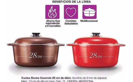 Avon Cucina Donna Cacerola Redonda Con Tapa 28cm Diámetro