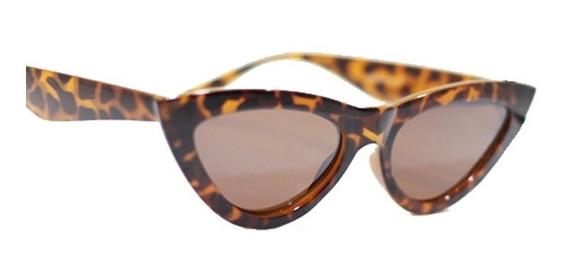Óculos De Sol Retrô Gatinho Lente Armação Colorida