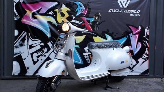 Scooter Electrica Sunra Vespa Litio 3000w Vintage Llevame Ya