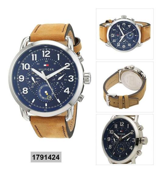 Relógio Tommy Hilfiger Pulseira De Couro - Novo Original