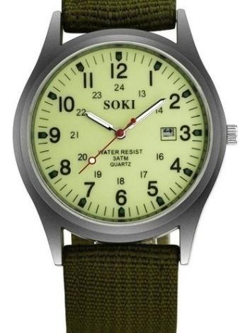 Relógio Soki Militar - Novo - Original