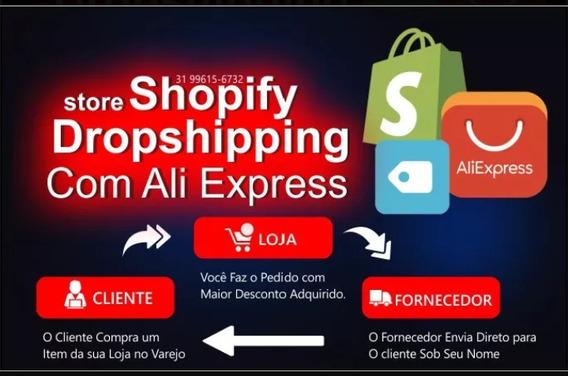 Loja Shopfy Para Dropshipping-configuração Profissional.