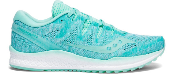 Zapatilla Saucony Running Freedom Iso Mujer Verde Agua