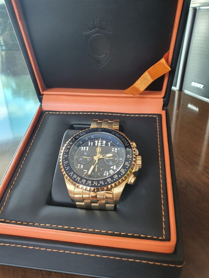 Relógio Automático Suíço Cronographic Luxo Constantine