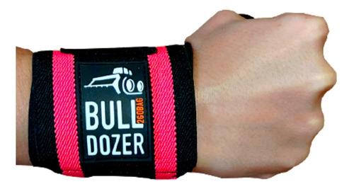 Munhequeira Proteção Luva Feminina Musculação Pink Bulldozer