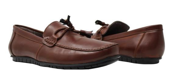 Zapatos Mocacín De Caballero Casual , 4954 Cognac Via Urbana