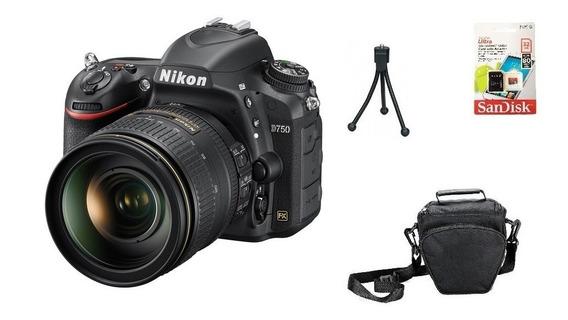 Nikon D750 + 24-120mm + 32gb + Bolsa + Tripé Garantia Novo