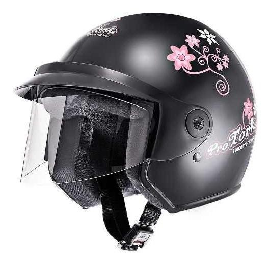 Capacete Moto Feminino Pro Tork Liberty 3 For Girls Preto