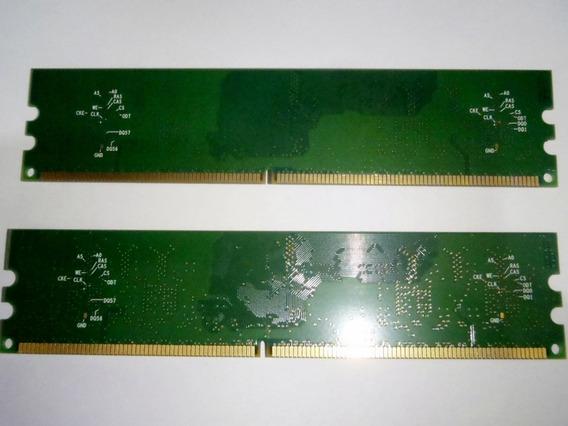 Memoria Ram Ddr2 256 Mb X 2 Total 512 Mb Marca Hp