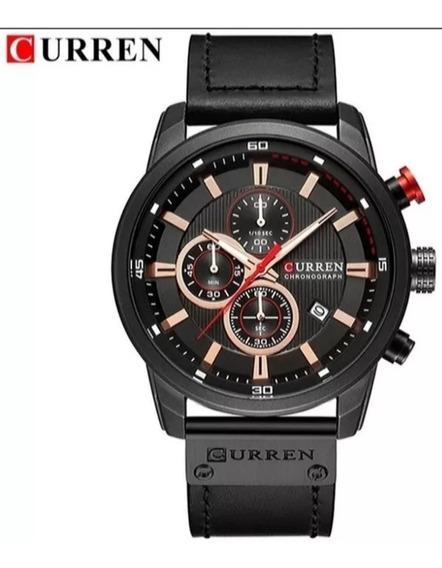 Relógio Curren 8291 - Preto. Envio Imediato!!! Frete Grátis