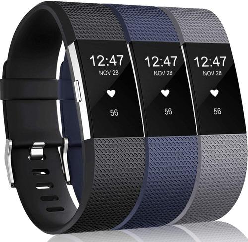 Mallas De Reloj Fitbit Charge 2 Hr / 3 Unidades / Talle S