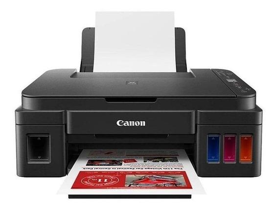 Impressora a cor multifuncional Canon G3111 com Wi-Fi 110V/220V preta