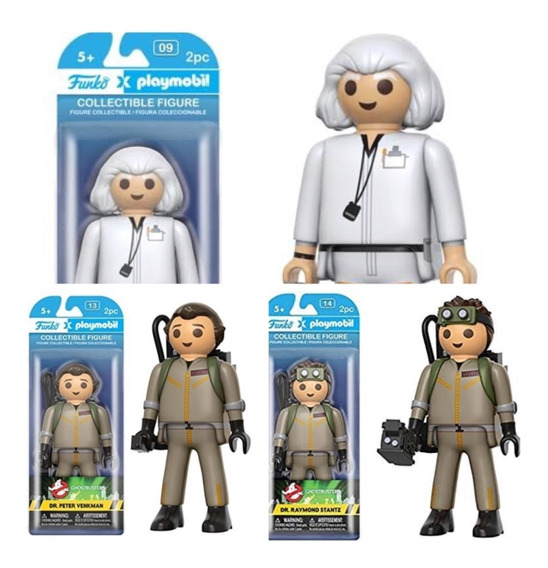 3 Funko Playmobil Gg Ghostbusters Back To The Future Novos