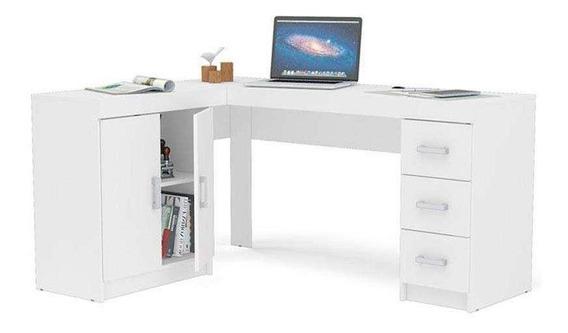 Mesa Para Computador Com 2 Portas E 3 Gavetas Espanha - Poli