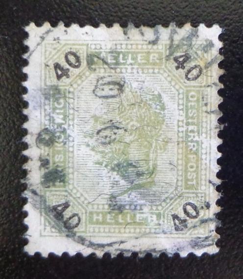 Austria, Sello Yv. 74a 40 H Brillantes 1899 Usado L10401