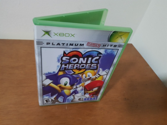 Sonic Heroes Usado Original Xbox Clássico Mídia Física