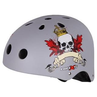Capacete Bike Skate Kripta Caveira Prata