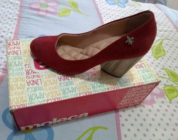 Sapato Boneca, Vermelho Queimado, Moleca.