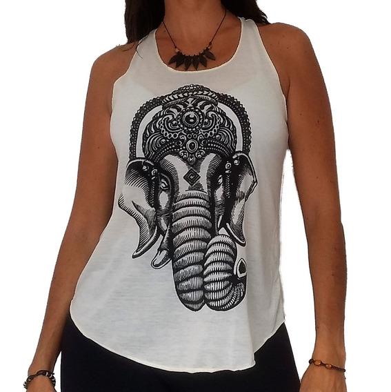Camiseta Blusinha Feminina Ganesha Om Yoga Índia Hindu Zen B