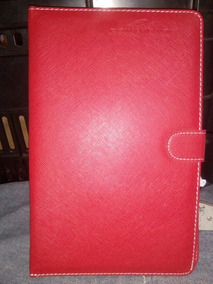 Capa Tablet 9 Polegadas Vermelha Mini Usb Caneta