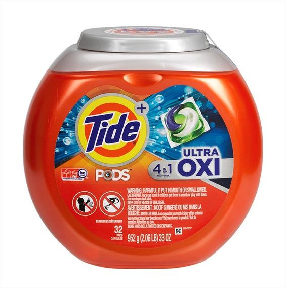 Tide Pods Detergente Ultra Oxi 4 En 1 Con 32 Capsulas Amyglo