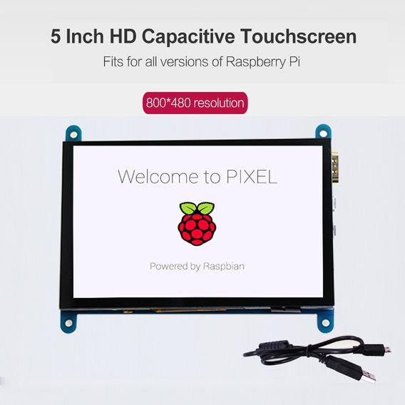 Tela Sensível Ao Toque Capacitiva Raspberry Pi 5 Polegada Hd